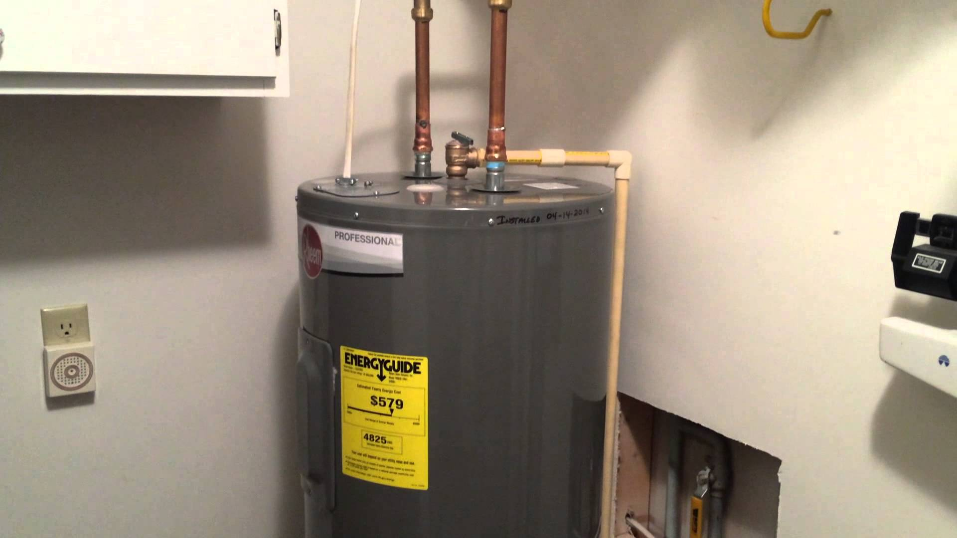 Hot water tank replacement cost bathroom cabinet design